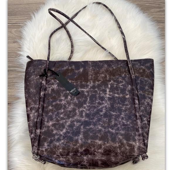Latico Theresa Scalloped leather tote/ purse